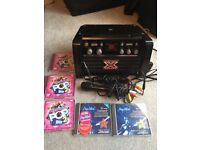 X-Factor Karaoke machine with 2 mics & 5 CDs