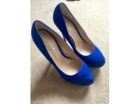 New Carvella Electric Blue high heel shoes