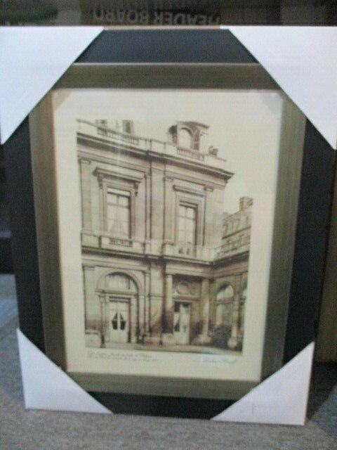 """Vintage """"Cour d'entee de Valois"""" Paris Scene Frame Print By Grace Feyock"""