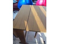 vintage retro folding table , very cool retro vintage dining table, both sides fold down