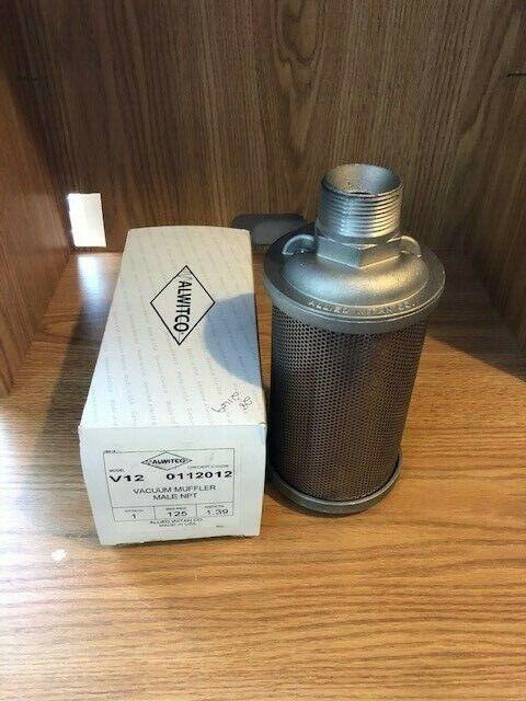 ALWITCO V12 Vacuum Muffler 125 MAX PSIG 1.39 WGT/CTN