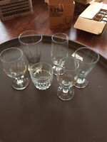 Assorted libby bar glasses