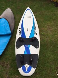 Windsurf Package Mistral Vision 170l board plus sales, mast, boom, fins and all accessories