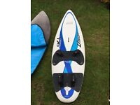 Windsurfer Package Mistral Vision 170l board plus sales, mast, boom, fins and all accessories