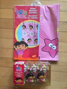 Dora the explorer shower curtain with matching hook new in boxes