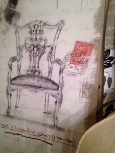 Large Vintage Chair Wall Art from Ashley Furniture