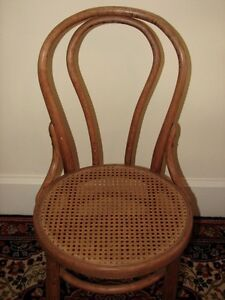 Antique Bentwood Bistro Chair, Woven Cane Seat, Cafe-Style Kitchener / Waterloo Kitchener Area image 3