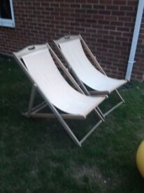 2x deckchairs for the garden