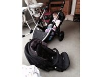 Britax B-Dual Tandem Buggy for sale. Comes with rain cover, 2nd seat and accessories for the car.
