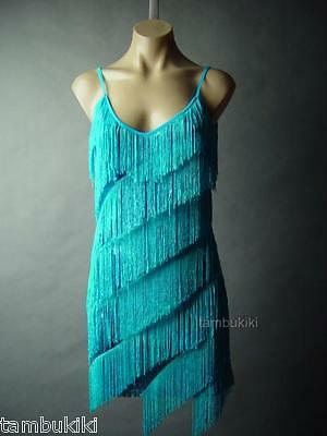 Sequin Tiered Fringe Great Gatsby 20s Theme Party Dance Slip Flapper 42 mv Dress