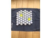 50 mixed make golf balls in excellent condition.