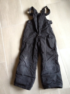 Columbia Ski Snow Pants Children's Youth Size 6/7 Black Used