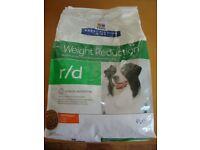 Dog Food Hill's Prescription Diet r/d 4Kg Bag New unopened
