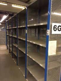 JOB LOT 5 bays of dexion impex industrial shelving 2.4 m high ( storage , pallet racking )