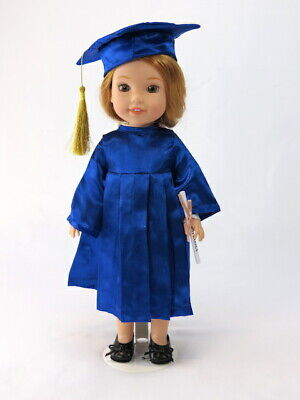 Blue Graduation Cap And Gown Fits Wellie Wisher 14.5