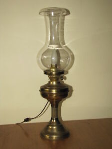 Original Antique Oil Lamp converted to Electricity