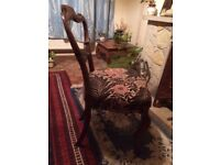 Two drawing room chairs, Victorian