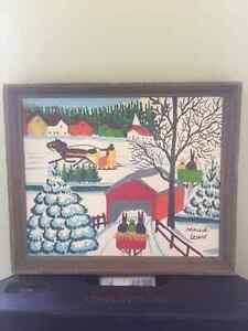 2 Original Framed Maud Lewis Paintings for Sale
