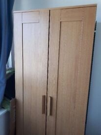 FREE - IKEA BRIMNES 2 door wardrobe with full length mirror