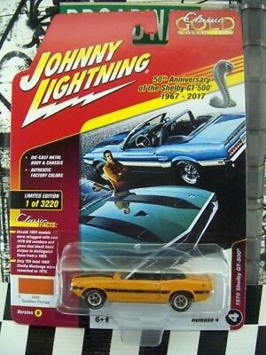 ('17 JOHNNY LIGHTNING 1970 SHELBY GT-500 CLASSIC GOLD SERIES)