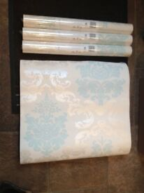 Laura Ashley Wallpaper - 3 Rolls Brand New Still In Wrapping.