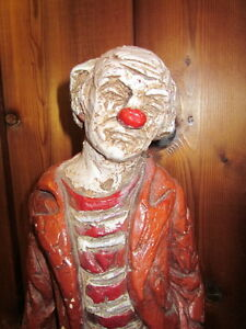 Hobo Clown Statue -Made in Canada