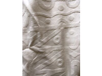 White patterned curtains. 240cm Width 132cm drop per curtain. £10. B15 or B7 Recently been washed