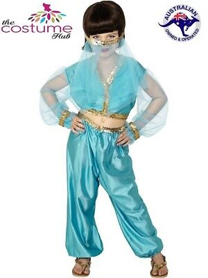 GIRLS Arabian Princess Genie Bellydancer Costume Kids Dress - Arabian Dress Up