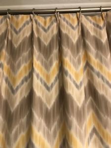 Drapery / Curtains : Modern Chevron / Ikat , pinched pleat