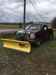 2007 Ford F-250 with Plow