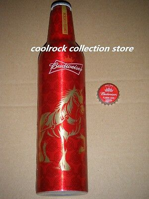 2014 China Budweiser beer NEW YEAR of HORSE aluminium bottle 473ml empty