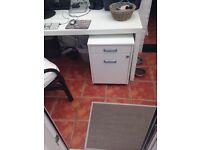 IKEA WHITE GALANT PEDESTAL FILING CABINET OFFICE DRAWERS