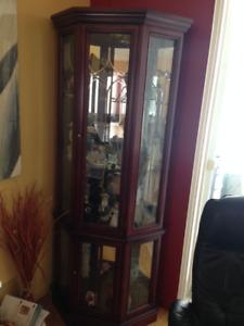 meuble vitrine curio