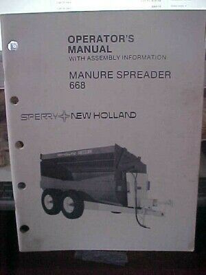 Om New Holland Manure Spreader 668  1h