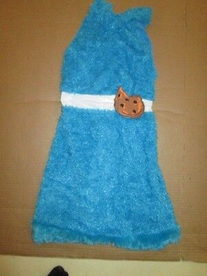 Girls SESAME STREET COOKIE MONSTER Halloween Costume  L Lg 10 -12 Disguise
