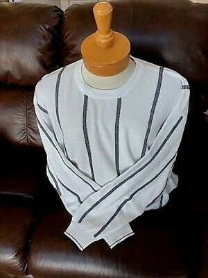 - New NWT Mens Pringle Crewneck XL White and Black Sweater Retails For $90.00