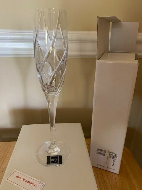 MIKASA Olympus FLUTED CHAMPAGNE Crystal Glass