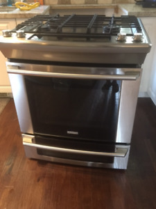 "Used Electrolux 30"" Dual-Fuel Slide-In Gas Range"