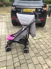 Pushchair Pink - Joie Nitro Stroller Charcoal/Pink