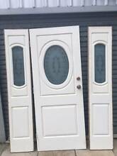 Front door Colonial Style with side panels - etched glass motif Stake Hill Murray Area Preview
