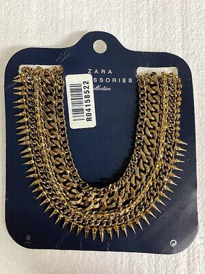 Zara Accessories Collection Gold Statement Necklace - Brand New