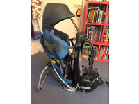 Deuter Kid Comfort II, child carrier/backpack - blue/grey