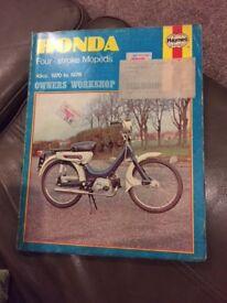 Haynes Manual Honda Four Stroke Moped 1970 - 1978