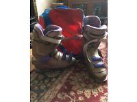 Ski Boots and Bag.
