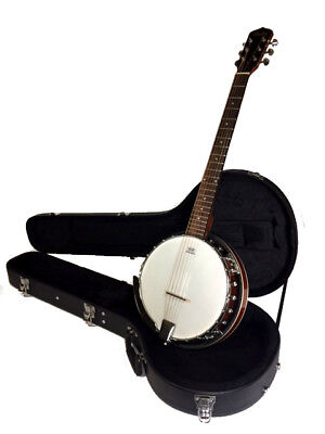 BANJOS-BANKRUPTCY-NEW 6 STRING BANJO COMES WITH HIGH QUALITY HARD CASE