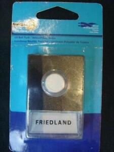 Friedland Door Chime / Doorbell - Lighted Pushbutton Pushlight Brassall Ipswich City Preview