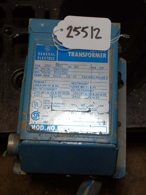 General Electric Dry Type Transformer KVA .250 (Inv.25512)