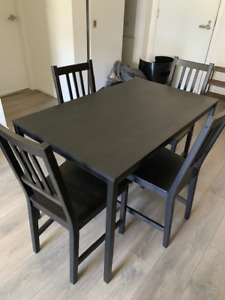 Ikea Tarendo table + 4 Stefan chairs for sale