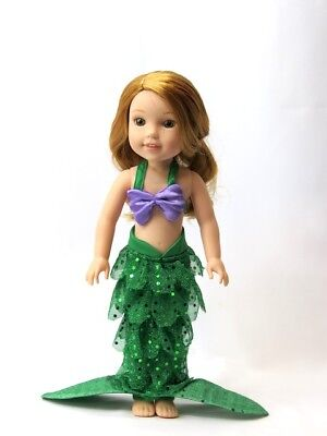 Little Mermaid Inspired Outfit Fits Wellie Wishers 14.5