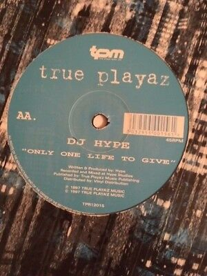"""DJ Hype – Jack To A King / Only One Life To Give 12"""" Vinyl Drum & Bass Jungle"""